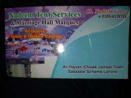 NADEEM TENT SERVICE  & MARRIAGE HALL MARQUES SERVICE IN LAHORE.