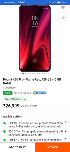 Sell REDMI K20 pro. ONLY 5 DAYS OLD.