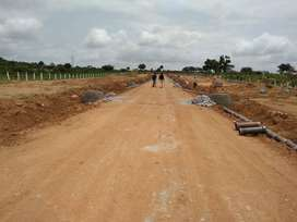 Open plots for sale at Bongolur near Adibatla, with Electricity servic