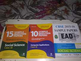 CBSE class 10th sample papers new edition of social science &computer