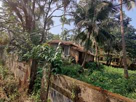 6040sq feet (640 sq meter) land with a House Close to Highway Old Goa
