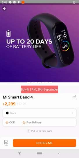 BOX PICE.NOT USED. Mi 4 Fitness band
