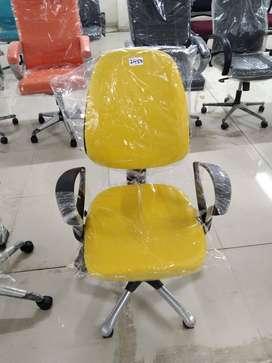 Yellow Staff Revolving Chair