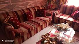 7 seater sofa with coner and center table