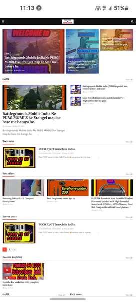 Article & blog website builder.