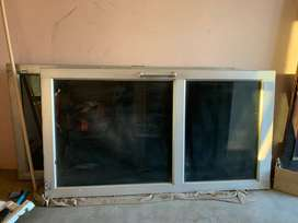 Aluminium Doors with black tinted glass