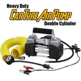 Double Cylinder Professional Air Compressor - Black