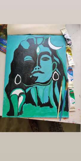 Shiva canvas painting