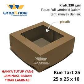 Dus kraft box kotak 25x25x10 cm laminasi dus kotak kue roti hadiah dll