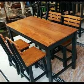 (promo spesial) meja kursi makan set cafe