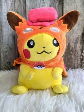 Boneka Pokemon Pikachu Red Vulpix