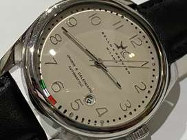 DESIGNER Bello & Preciso STAINLESS STEEL AUTO GENTS WATCH,NEW.ITALY