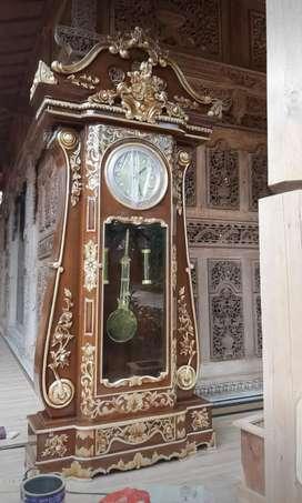 Jam almari hias,jam kayu jati,jam masjid