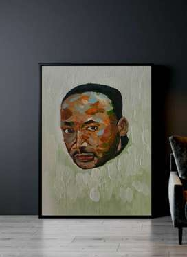 Martin lother king portrait painting/canvas