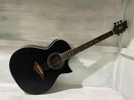 Gitar Akustik warna hitam