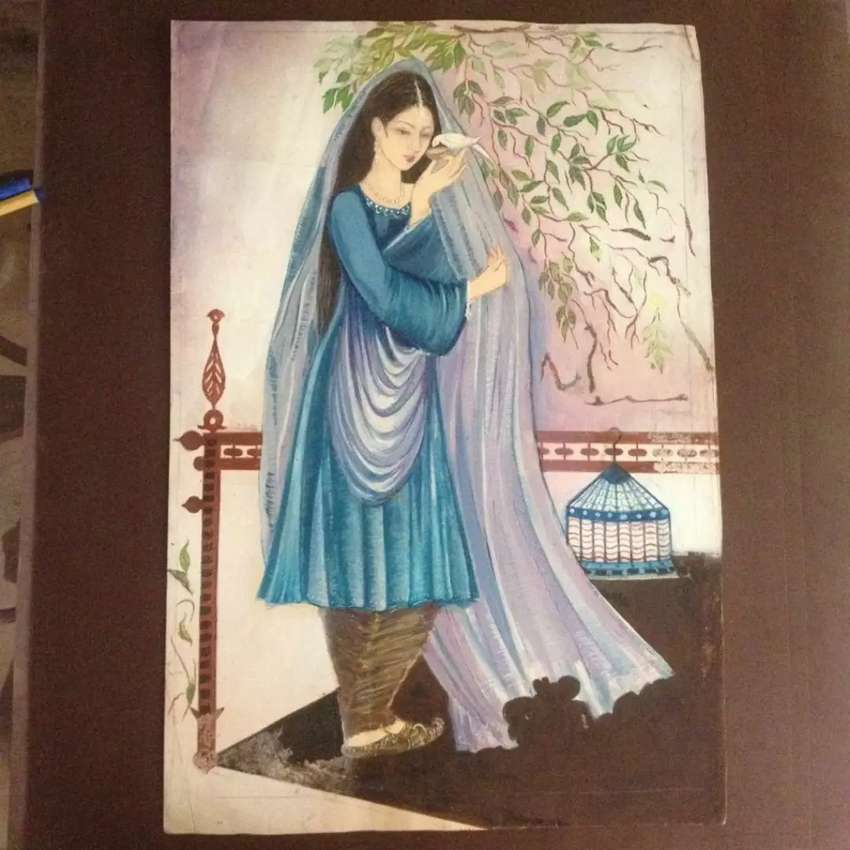 New hand made oil colour and pencil colour paintings 0