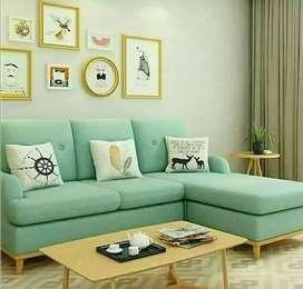 Sofa retro panjang elegant