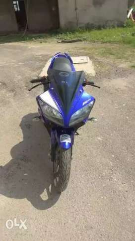 Yamaha R15 single handled insured bike