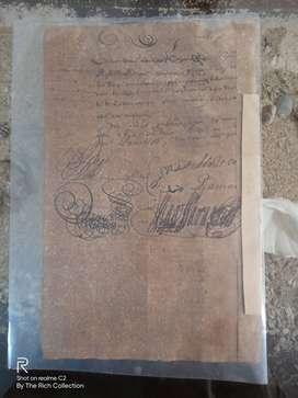 ORIGINAL ARSIP VOC TAHUN 1750HAN