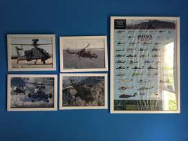 Poster + Frame (PxL: 95cm x 69cm / Helicopter) / Nego Halus
