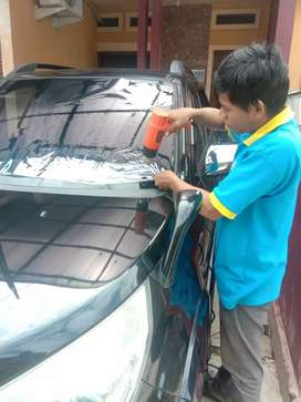 Proses pemasangan kaca film di jamin rapih