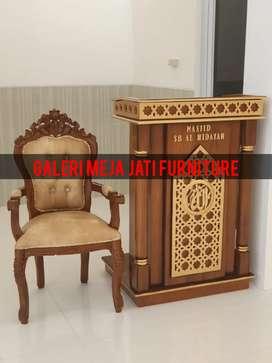 Mimbar masjid kualitas jati talk wood