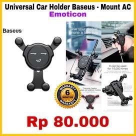 Universal Car Holder Baseus - Mount AC - Emoticon - Original 100%