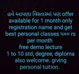 Personal teaching 1to 10 nd diploma students