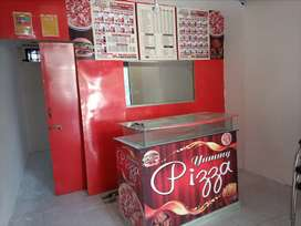 Shop counter 11 mm glass