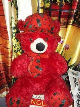 VERY CUTE AND BEAUTIFUL RED TEDDY BEAR FOR KIDS,GIRLS AND EVEN ADULTS