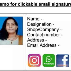 Clickable email signature