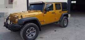 Modified rubicon 4x4yellow jeep