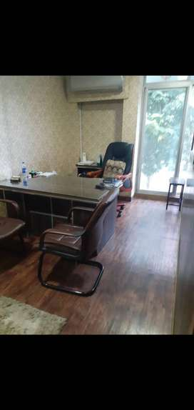 Brown Leather Chairs Pair
