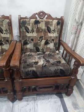 Well condition wooden sofa