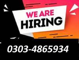 Staff Required Ghar Batha pasa kamay(Full Time,Part Time,Online)