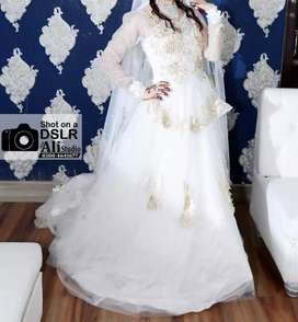 Wedding White Maxi, Bought from Malaysia is for Sale now.