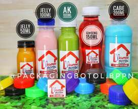 BOTOL PLASTIK CANTIK UNIQUE, FoodGrade Ukuran 50ml - 1000ml