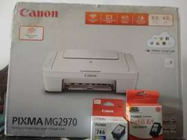 Canon PIXMA MG297P Colored printer with all colors cartridge Free!
