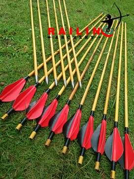 Anak panah bambu point 78cm sebanyak 12pcs