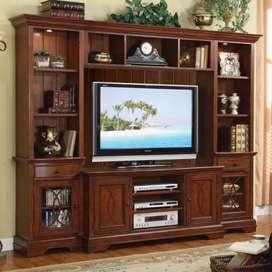 Almari bufet tv kayu jati