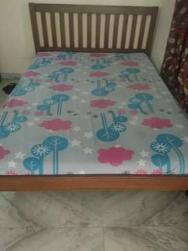 Prices slashed !!! Teakwood queen size bed with mattress