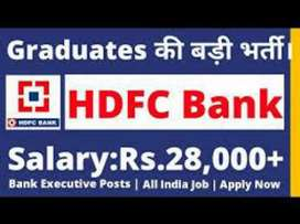 Urgent Reqeirment for hdfc bank job vacancies all over India