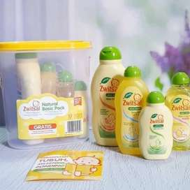 Zwitsal Natural Basic Pack Isi 4 Zwitsal Baby