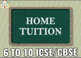 Home Tuition for Class 6 to 10 ICSE/CBSE