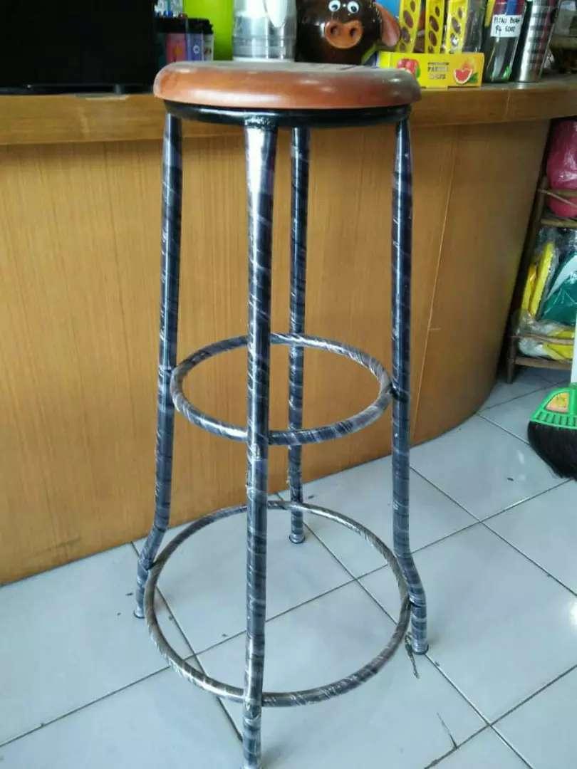 kursi Tinggi Kursi caffe 80 cm Kursi Bakso Kaki besi Tinggi 0