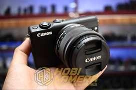 Kamera Mirrorless Canon M100 Lensa 15-45mm Af is stm FULLSET Elegant