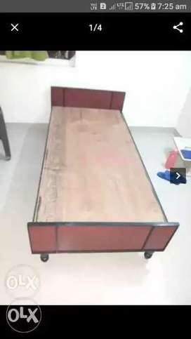 New Single Double Bed Cot N Mattress Home Delivery Facility Available