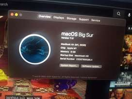 Macbook air 2020 7 day old
