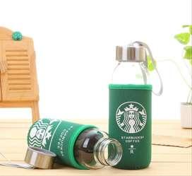 botol tumbler kaca starbuck free pouch