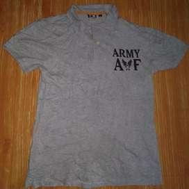 Kaos kerah avirex armybair force size M
